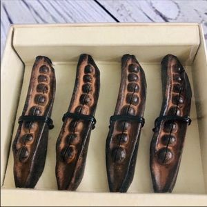 Pottery Barn Peapod Placecard holders NEW